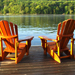 Adirondack chairs lake small