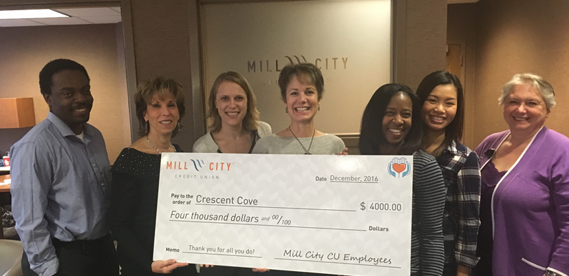 Mill City CU employees donate $4,000 to support local charity — Mill City Credit Union