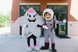 Brite and Apollo, mascots