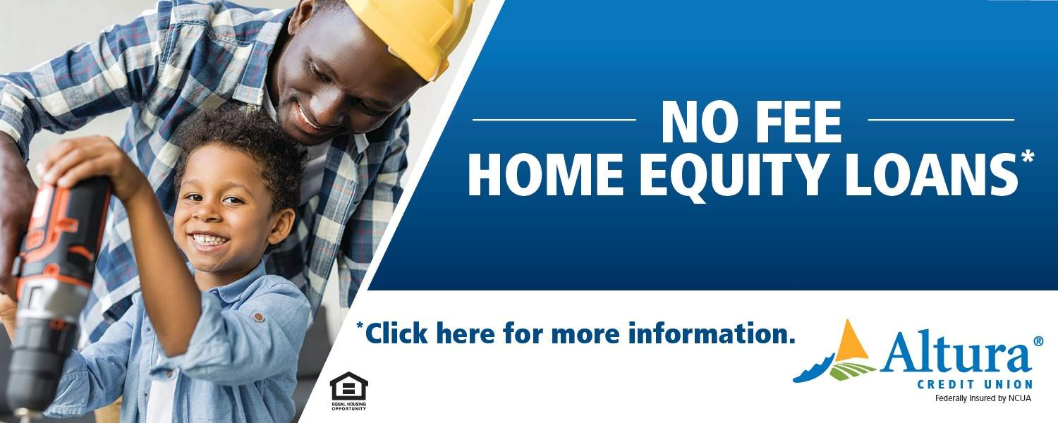 Dad and son working with drill - no fee, home equity loans* *click here for more info*