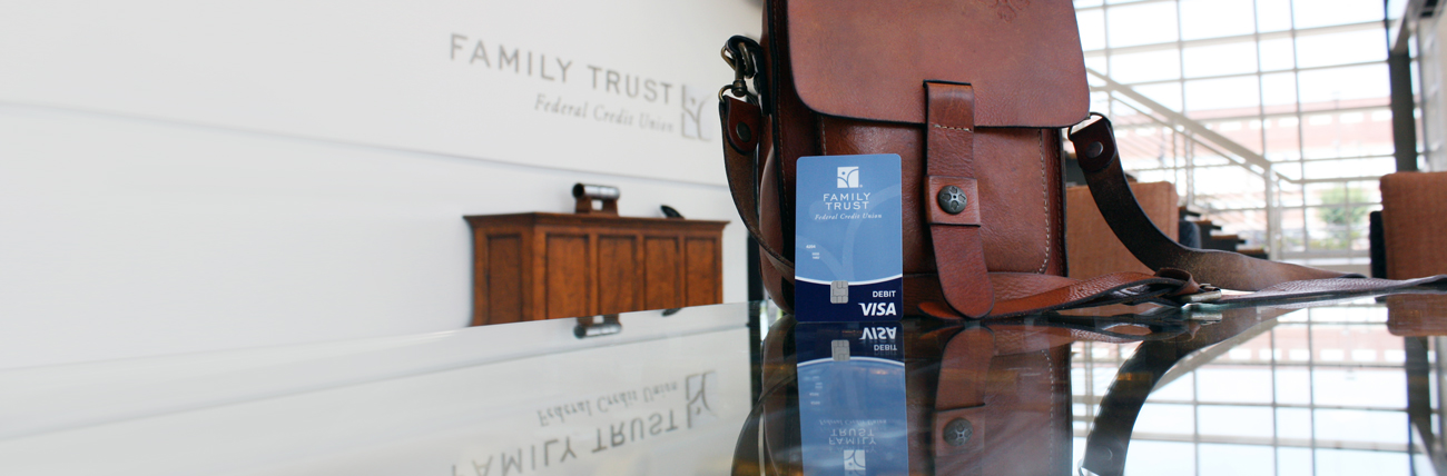 travel bag and Family Trust card