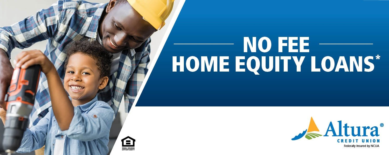 Father and son work with drill - No fee, home equity loans*