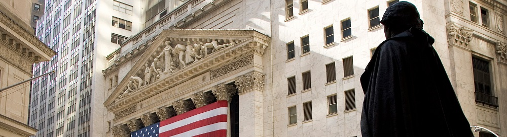 The New York Stock Exchange roofline