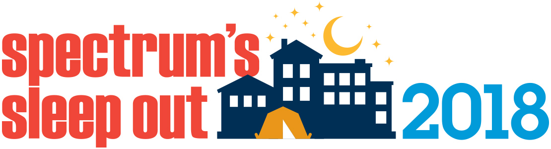 Spectrum Sleep Out 2018 logo with house and stars