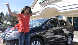 Unnamed Member jumping out of excitement over new car
