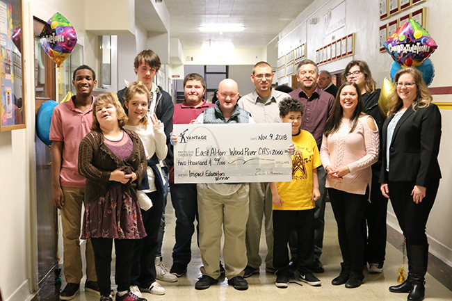 East Alton-Wood River High School accepts award