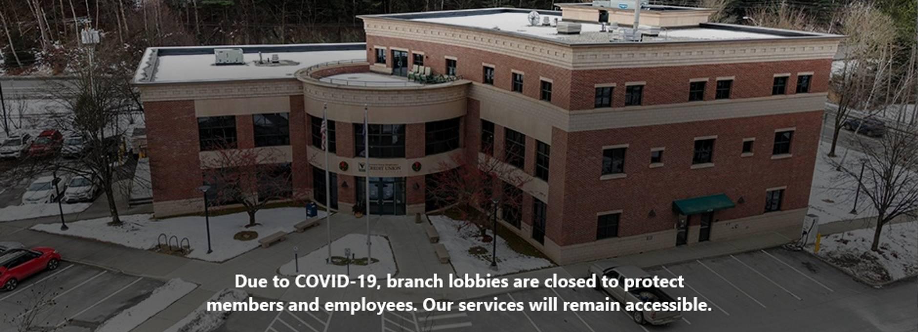 COVID-19 Lobby Closure Homepage Hero