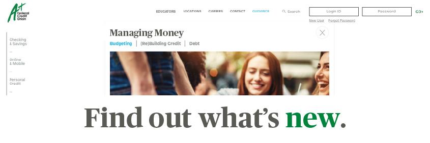 The new A+FCU website