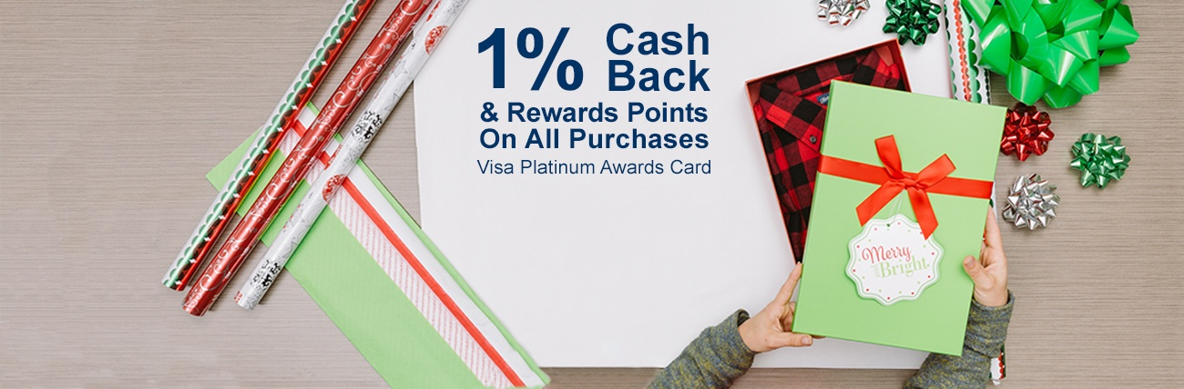 1% cash back Visa Platinum