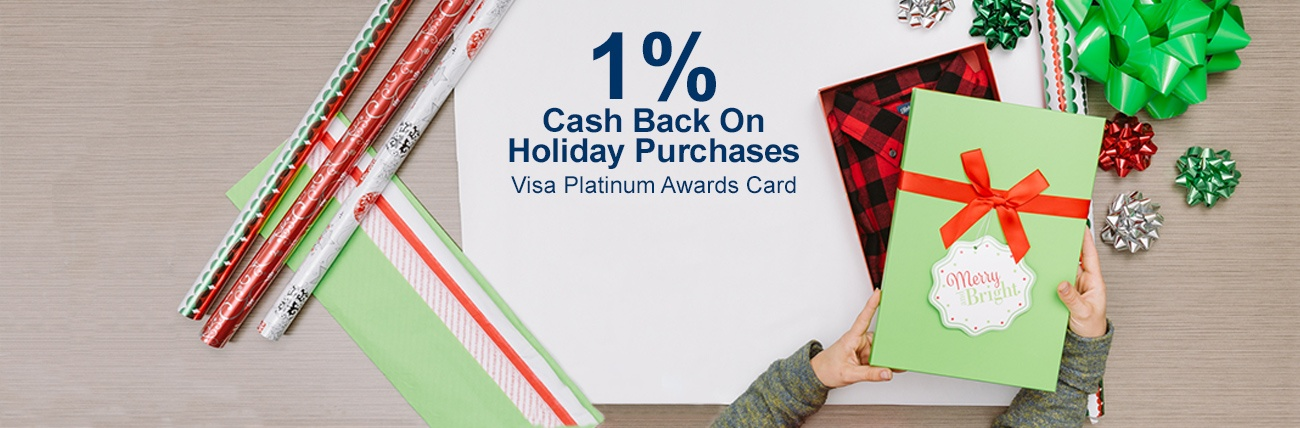 1% cash back Visa Platinum