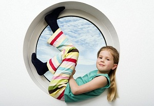 Girl in circle small