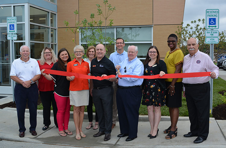 Image of Cave Springs branch ribbon cutting